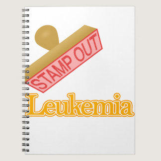 Stamp Out Leukemia orange Notebook