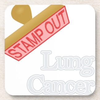 Stamp Out Lung Cancer Beverage Coaster