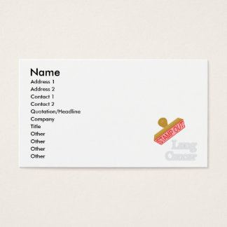 Stamp Out Lung Cancer Business Card