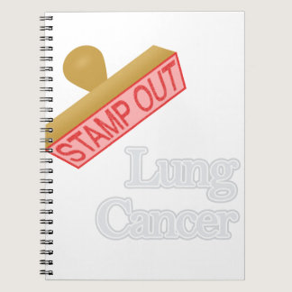 Stamp Out Lung Cancer Notebook