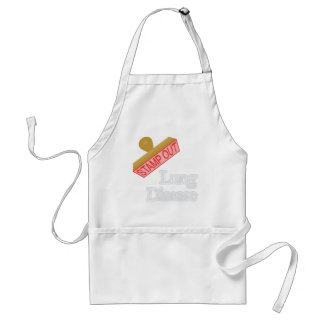Stamp Out Lung Disease Adult Apron