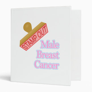 Stamp Out male breast cancer 3 Ring Binder