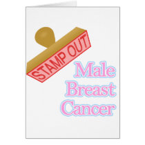 Stamp Out male breast cancer Card