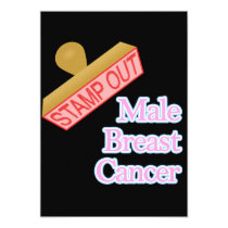 Stamp Out male breast cancer Invitation