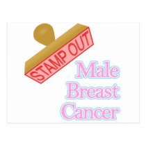 Stamp Out male breast cancer Postcard