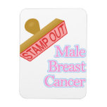 Stamp Out male breast cancer Rectangle Magnet