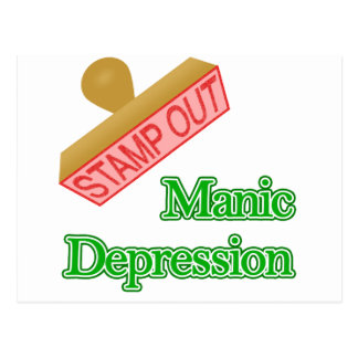 Stamp Out Manic Depression Postcard
