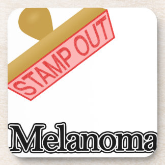 Stamp Out Melanoma Beverage Coaster