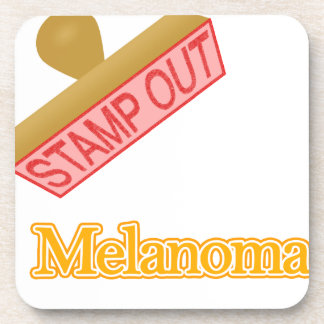 Stamp Out Melanoma orange Beverage Coaster