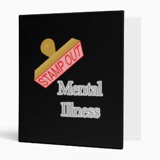 Stamp Out Mental Illness gray 3 Ring Binder