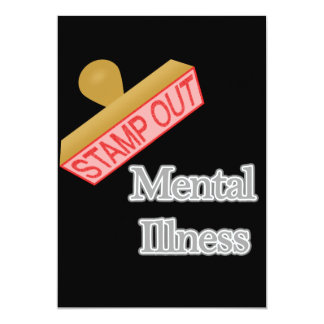 Stamp Out Mental Illness gray Card