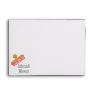 Stamp Out Mental Illness gray Envelope