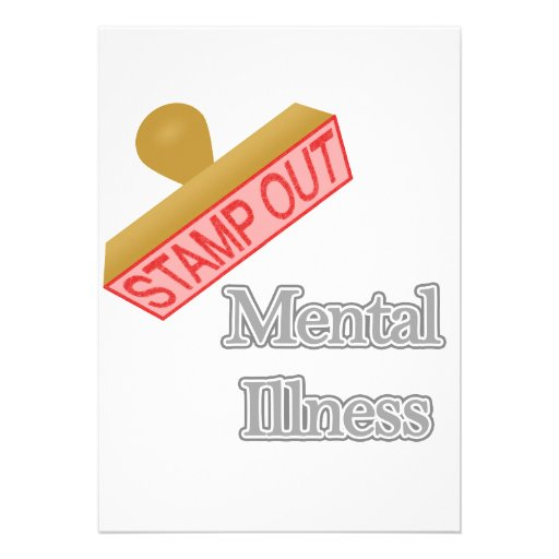 Stamp Out Mental Illness gray Personalized Announcement