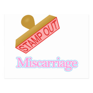 Stamp Out Miscarriage Postcard