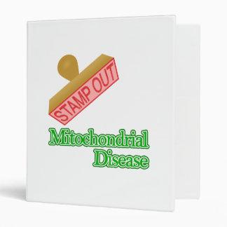 Stamp Out Mitochondrial Disease 3 Ring Binder
