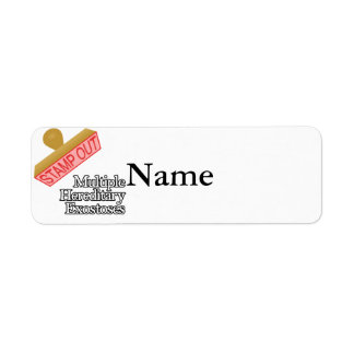 Stamp Out Multiple Hereditary Exostoses Label