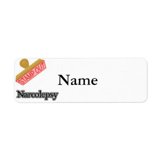 Stamp Out Narcolepsy Label