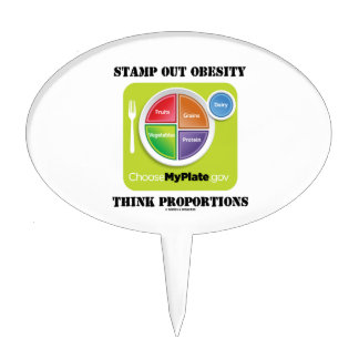 Stamp Out Obesity Think Proportions (MyPlate) Cake Topper