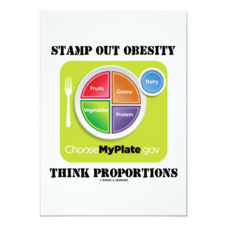 Stamp Out Obesity Think Proportions (MyPlate) Card
