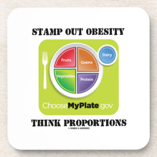 Stamp Out Obesity Think Proportions (MyPlate) Coasters