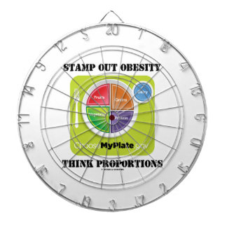 Stamp Out Obesity Think Proportions (MyPlate) Dartboard