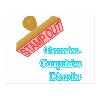 Stamp Out Obsessive-Compulsive Disorder Postcard