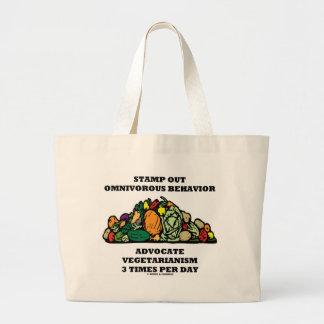 Stamp Out Omnivorous Behavior Advocate Vegetarian Tote Bag