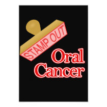 Stamp Out Oral Cancer Invitation
