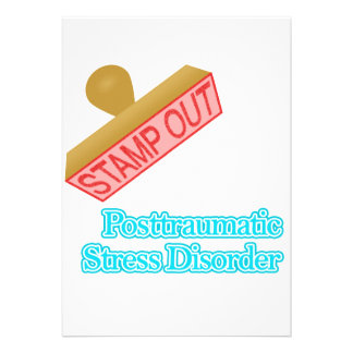 Stamp Out Posttraumatic Stress Disorder Personalized Invite