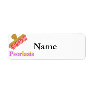 Stamp Out Psoriasis Label