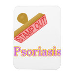 Stamp Out Psoriasis Rectangle Magnet