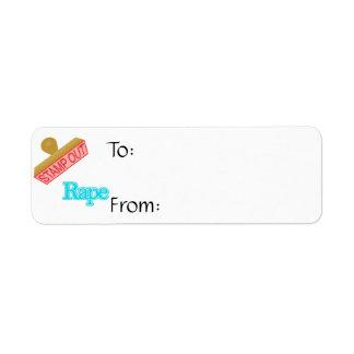 Stamp Out Rape Custom Return Address Labels