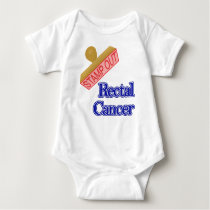 Stamp Out Rectal Cancer Baby Bodysuit