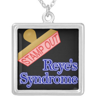 Stamp Out Reye's Syndrome Square Pendant Necklace