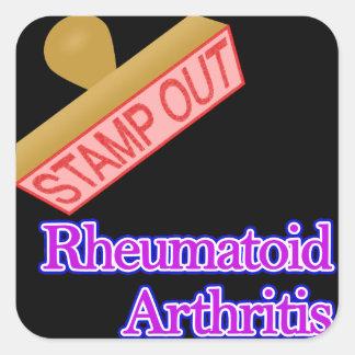 Stamp Out Rheumatoid Arthritis Square Sticker