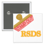 Stamp Out rsds 2 Inch Square Button