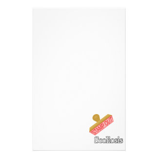 Stamp Out Scoliosis Stationery