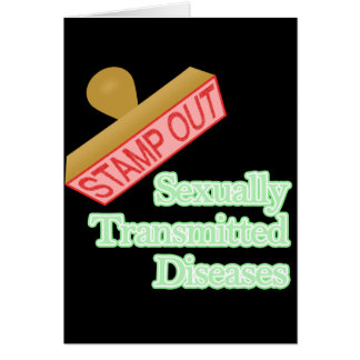 Stamp Out Sexually Transmitted Diseases Stationery Note Card