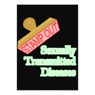 Stamp Out Sexually Transmitted Diseases 5x7 Paper Invitation Card