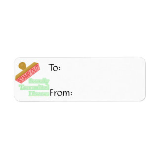 Stamp Out Sexually Transmitted Diseases Return Address Label