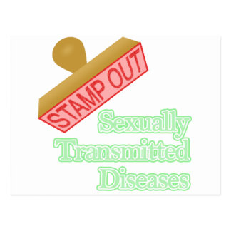 Stamp Out Sexually Transmitted Diseases Postcard