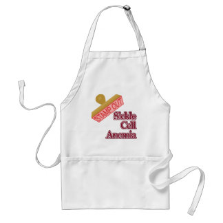 Stamp Out Sickle Cell Anemia Adult Apron