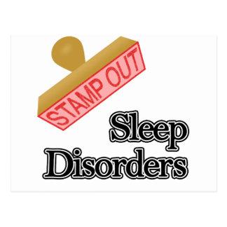 Stamp Out Sleep Disorders Postcard