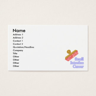Stamp Out Small Intestine Cancer Business Card