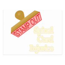 Stamp Out Spinal Cord Injuries Postcard