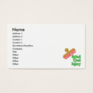Stamp Out Spinal Cord Injury - Green Business Card