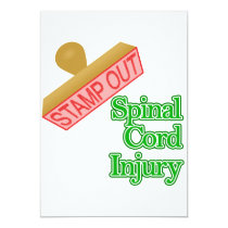 Stamp Out Spinal Cord Injury - Green Invitation