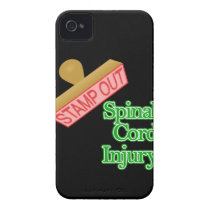 Stamp Out Spinal Cord Injury - Green iPhone 4 Case-Mate Case