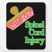 Stamp Out Spinal Cord Injury - Green Mouse Pad