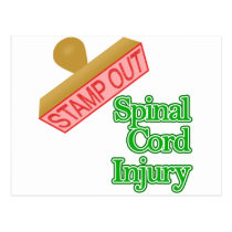 Stamp Out Spinal Cord Injury - Green Postcard